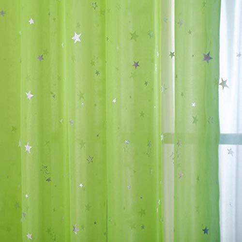 Rideaux en tissu pour enfants brillants pour le salon Kids Garçon Fille Chambre Bleu / Rose Blackout Cortinas Custom Made Drapé wp123-45, Couleur 4 Tulle, 1PC W100 x H125cm, Haut à œillets (Anneau)