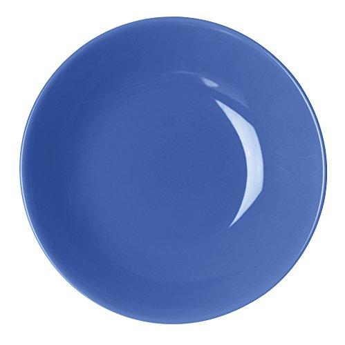 Excelsa Trendy Piatto Fondo, Ceramica, Azzurro, 20x20x4 cm