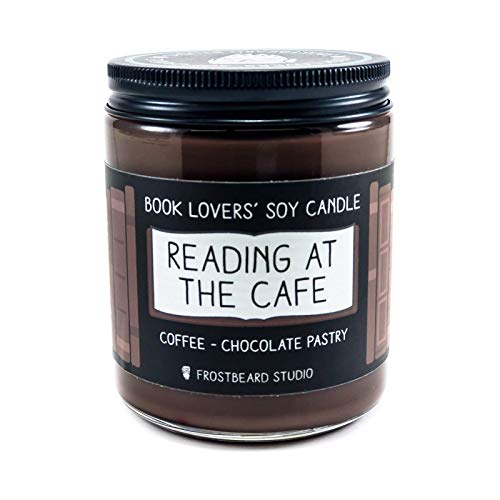 Reading at the Cafe - Book Lovers' Soy Candle - 8oz Jar