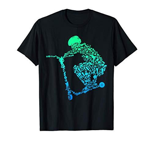 Scooter Roller Stunt Geschenk für Kinder & Jungen T-Shirt