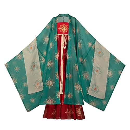 XIAOXIAO Hanfu Hanfu Chino Traje Tradicional Antiguo Disfraz De Falda De Hada Vestido De Carnaval De Actuacin Escnica para Mujeres (Color : B, Size : X)