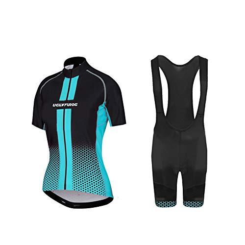 UGLY FROG Maillot de ciclismo para mujer de manga corta, conjunto de ropa para deportes al aire libre, camiseta y pantalones cortos para el verano