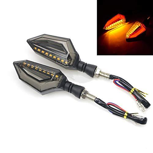 Par Motocicleta LED Luces de señal Luces de señal Lámpara ámbar Izquierda Indicadores de señales a la Izquierda Parinkers 3 Cables Universal (Color : D)