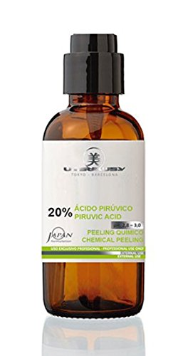 Acido professionale della Frutta Peeling con 20% Acido Piruvico (AHA). Peeling Chimico Con Frutta acido–Ideale in caso di Acne e antirughe Trattamenti e bei schlaffer della pelle. Contenuto 60ML.