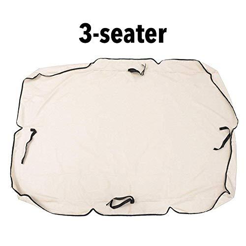 Hearthrousy Sonnendach für Hollywoodschaukel Ersatzdach Gartenschaukel 2/3-Sitzer Ersatz Bezug Sonnendach Schaukel en Beschichtetes Oxford-Tuch UV-Blockstehende Wasserdichtes für den Außenbereich