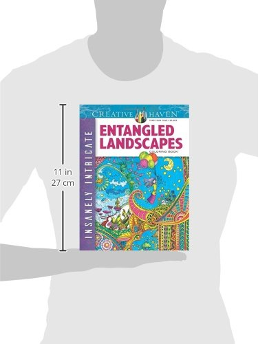 Creative Haven Insanely Intricate Entangled Landscapes Coloring Book (Creative Haven Coloring Books)