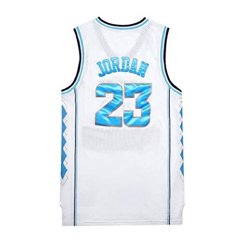Aojing Michael Jordan # 23, Chicago Bulls, Basketball-Trikot NBA Swingman Jersey, Herren-Basketball-Trikots, Unisex Sleeveless T-Shirt (Color : White, Size : XL)