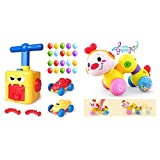 Vanmor Power Balloon Car Toy + Baby Musical Inchworm Toy