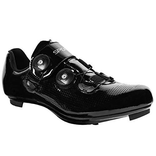 RHSMQ Zapatillas de Ciclismo para Mujer Zapatillas Deportivas de Ciclismo de Carretera SPD Zapatillas Deportivas de Ciclismo MTB para Hombres Profesionales Zapatillas de triatlón(42, Black)