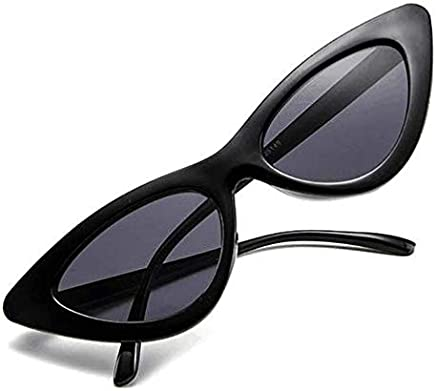 ce9db90efe2f Retro Vintage Narrow Cat Eye Sunglasses for Women Clout Goggles Plastic  Frame