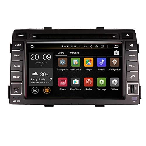 KCSAC 4G Android 9.0 Coche DVD para Kia Sorento 2010-2012 en Dash Car Stereo GPS GPS Nagavition Headunit Tape Recorder Player Multimedia (Color : Android 9.0 PX6 4 64)