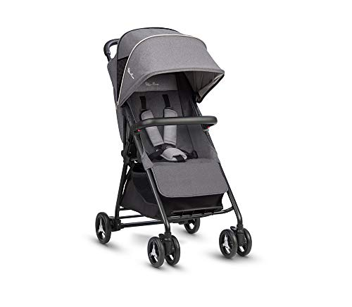 Silver Cross Avia Stroller, Lightweight and Cabin Approved Pushchair - Galaxy Grey