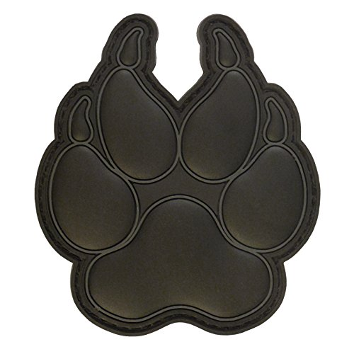 LEGEEON All Black K-9 Paw K9 Handler Dogs of War Morale Army Gear PVC Fastener Patch