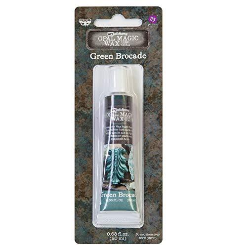 Prima Marketing Brocade Art Alchemy-Opal Magic Wax Green, Grüner Brokat