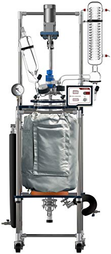 Ai 50L Dual Jacketed Glass Reactors w/ All PTFE Valves 110V 60Hz 140 Watts