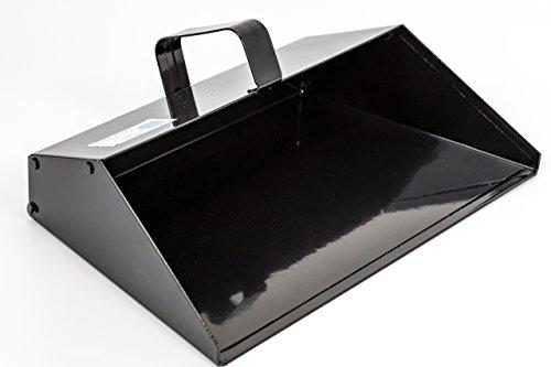 Kehrschaufel / Kehrschaufel mit breiter Öffnung, 350 mm, robust, Metall, ideal für den Innen- und Außenbereich