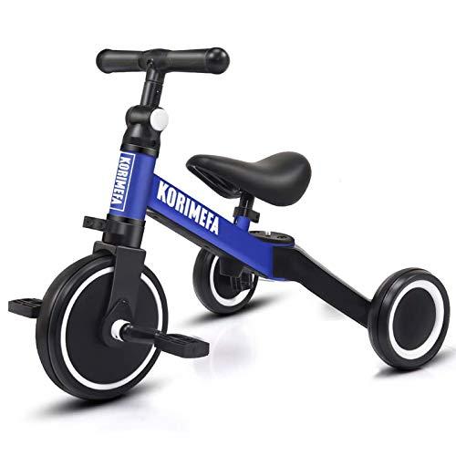 KORIMEFA 3 EN 1 Trciciclo Bicicleta de Equilibrio Triciclo para niños Adecuado...
