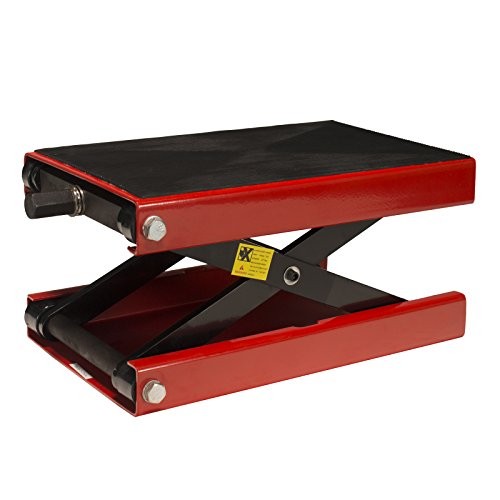 Dragway Tools 1100 LB Wide Deck Motorcycle Center Scissor Lift Jack Hoist Stand Bikes ATVs