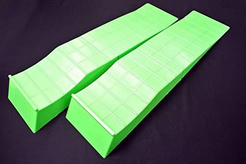 SilkRoad(シルクロード) 2ピース構造 タイヤスロープ グリーン 2輪分 [99-R01MKG]