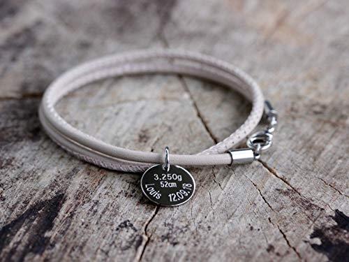 Lederarmband mit zweier Wicklung, Namensarmband personalisiert,Familienarmband, Armband mit Gravuranhänger, Nappalederarmband, Initialen