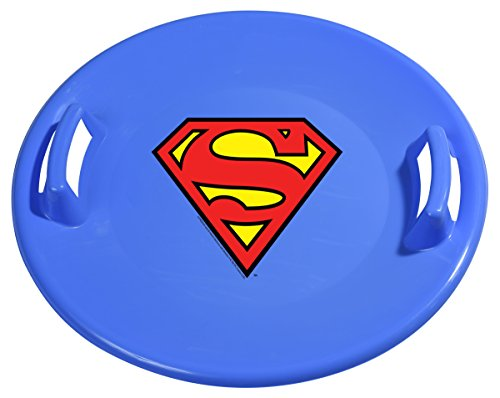 Slippery Racer Superman Downhill Pro Saucer Snow Sled, Blue