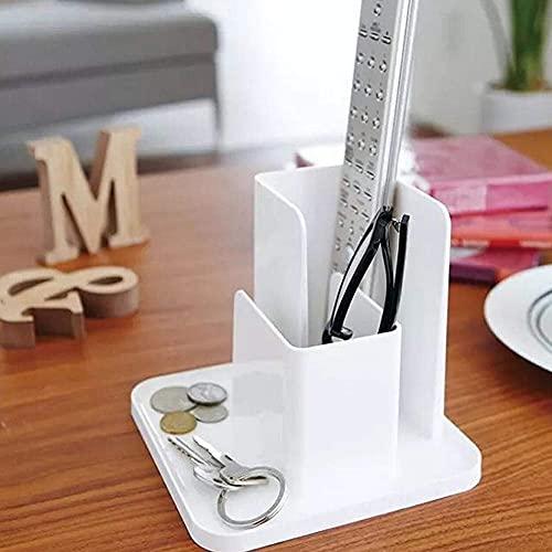 Guuisad Caja de Almacenamiento de Escritorio Control Remoto Gafas Compartimiento Organizador Organizador Cosméticos Contenedor Sundries Holder Holder Oficina Caso