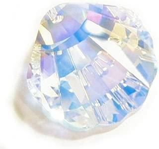 1 pc Swarovski Crystal 6723 Seashell Charm Pendant Clear AB 28mm / Findings / Crystallized Element
