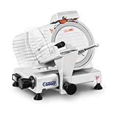 Royal Catering RCAM 220PRO All-knife cutter Kitchen Slicer Gastro Bread Cutting Machine Silver Stainless Steel Professional (120W, 0-12mm snijdikte, 220mm Mesgrootte)*