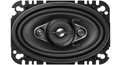 "Pioneer TS-A4670F 4-Weg-Koaxiallautsprecher (210 W), 4"" x 6"" (ca. 10 x 15 cm), IMPP Membran für kraftvolle Bässe, 2 Lautsprecher, schwarz"