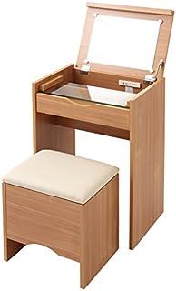 ドレッサー・スツール2点セット スツール付ドレッサー DR-5070HC 鏡台 ミラー 椅子 (ナチュラル)