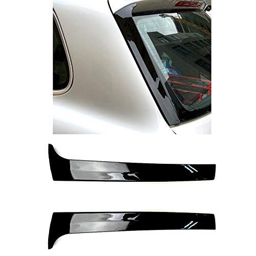 QQSGBD Ala 2Pcs Gloss Black Laterale Posteriore Spoiler Tetto Copertura Adesivi Trim per-VW Touareg 2011-2017 Accessori Auto
