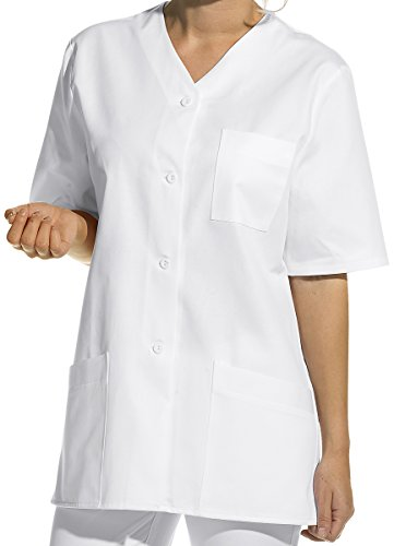 LEIBER Hosenkasack - Damen-Kasack - kurzarm - weiß - Größe: 56