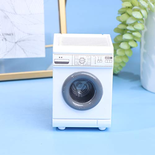 TIANTIAN 1:12 Puppenhaus-Möbel-Miniatur-Roller, Waschmaschine, Fancy Frontlader, Wäsche für Puppenhaus, Miniatur-Zubehör, Kinderspielzeug
