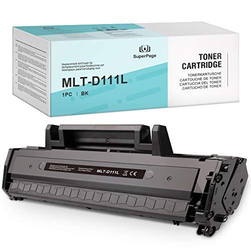 Superpage Kompatibel für Samsung MLT-D111L MLT D111L MLTD111S Toner für Samsung Xpress SL-M2070W M2026W M2070 M2026 M2070FW M2020 M2022W M2020W M2022,(Schwarz,1 Packung)