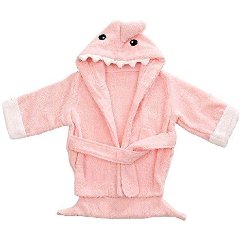 Fortuning's JDS® Coton Requin à Capuche Rose Bambin Peignoir (0-2 Ans)
