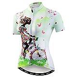Hotlion Mujer Ciclismo Jersey manga corta bicicleta chaqueta ciclismo camisa bicicleta ropa