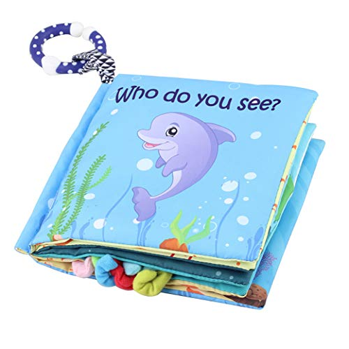 Soft Sea Animal Baby Book - Cloth Baby Book with Soft, Crinkle and Vibrant Pages