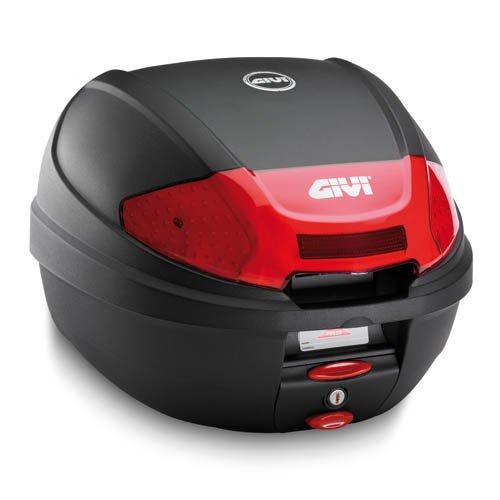 Givi E300N2 E300Monolock Topcase mit neuen Verschluss mit Platte schwarz matt oder Max Zuladung 3 kg