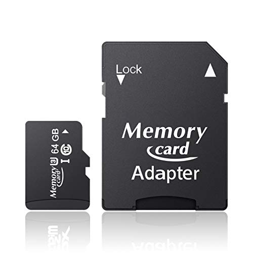 Jumpbule Speicherkarte Klasse 10, U3 SD-Adapter SDXC Card bis zu 100MB/s (64GB)