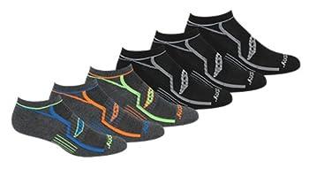 Saucony Men s Multi-Pack Bolt Performance Comfort Fit No-Show Socks Grey  6 Pairs  Shoe Size  8-12