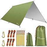 [page_title]-Ryaco Camping Zeltplane, 3m x 3m Tarp für Hängematte, wasserdicht Leicht Kompakt Zeltunterlage Picknickdecke Hammock für Camping Outdoor Plane für Ourdoor Camping MEHRWEG