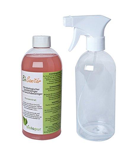 Biolopur | BioSanitär | Reiniger und Geruchsbeseitiger | 500ml Konzentrat ergibt 5L Fertiglösung | Sanitärreiniger