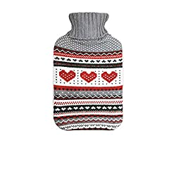 Harbour Housewares full size hot water bottle Gorgeous, removable, washable, knitted cover Dimensions: Length: 350mm Width: 200mm Keep warm on those cold winter nights Part of the stunning Harbour Housewares hot water bottle range