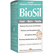 BioSil by Natural Factors, Hair, Skin, Nails, Supports Healthy Growth and Strength, Vegan Collagen, Elastin and Keratin Generator, 30 Capsules (30 Servings) (FFP)