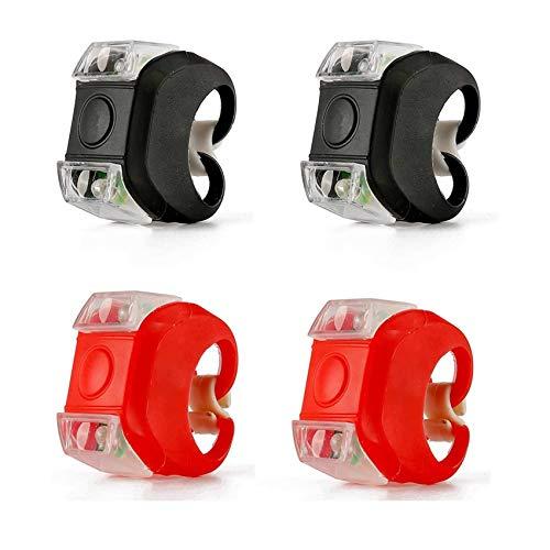 Rpanle 4 Stück LED-Kinderwagenleuchten, wasserdichte Silikonleuchten LED Kinderwagen licht der 6 Generation, 3 Modi, Nicht Wiederaufladbare Batterien Enthalten