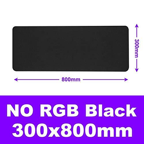 Mauspad Hintergrundbeleuchtung Spiel Mauspad RGB Groß Anti-Rutsch-Sensitive XXL Mauspad Spieler Tastatur Handgelenkauflage Desk Pad PC Gaming (Color : Black 300X800)