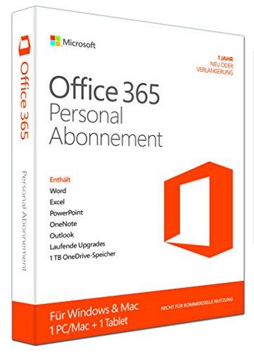 Microsoft Office 365 Personal - 1 PC/MAC - 1 Jahresabonnement - multilingual (Product Key Card ohne Datenträger) [import allemand]