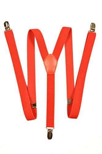 Olata Hosenträger mit 3 Clips - Modell 'Skinny' 2cm. Rot