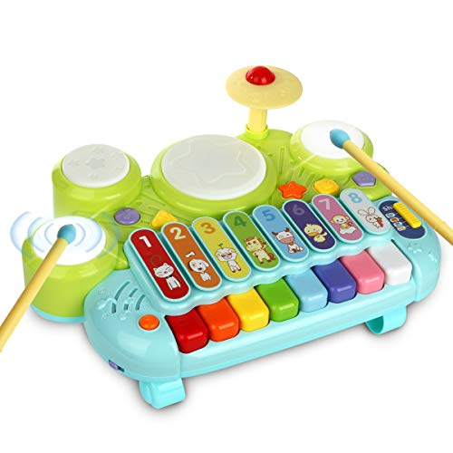 3 in 1 Toddler Drum Set Piano Keyboard Xylophone Toys