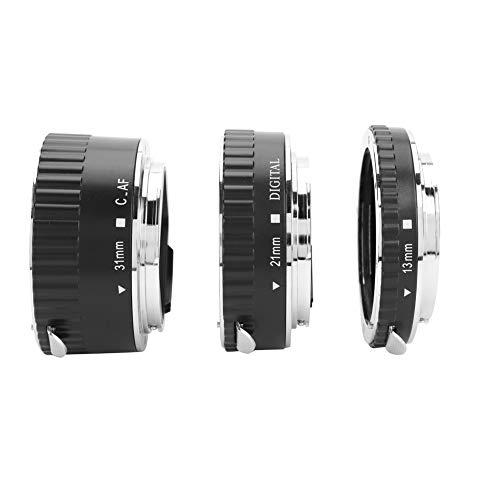 Anillo de Conjunto de Adaptador de Lente, 13 mm 21 mm 31 mm Macro Autofocus Trípode Anillos de Montaje de Lente para cámara DSLR Canon EF EF-S Lente, Conjunto de Tubo de extensión Macro